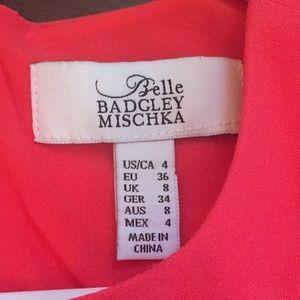 Belle Badgley mischka coral sleeveless dress